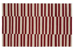 Anna Flat-Weave Rug, Red/Beige on OneKingsLane.com