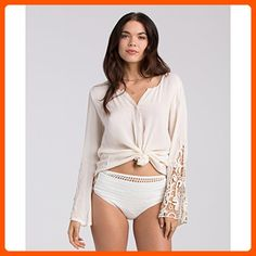 Billabong Junior's Silver Sands Woven Boho Blouse, White Cap, Small - All about women (*Amazon Partner-Link)