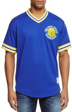 Mitchell   Ness Golden State Warriors Mesh NBA Shooting Shirt 7b849b0f6