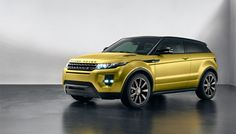 range rover evoque special edition in sicilian yellow