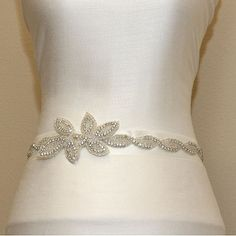 Wedding sash Crystal rhinestone beaded bridal sash by LuxeCloset, $92.00