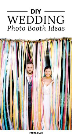 You'll want to savor every memory of your wedding. The best way to look back on all those big moments is with pictures, of course. Once the reception kicks off, make sure you have a photo booth set up so that you and your guests can capture every hilarious interaction. We've got a bevy of DIY ideas for you to check out — craft one of these 15 projects, and your wedding is guaranteed to be a hit.