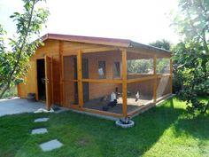 Gartenhaus als Hühnerstall umgebaut