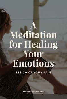 A Meditation for Healing Your Emotions — Pushing Beauty Yoga Meditation, Guided Meditation For Anxiety, Meditation Meaning, Meditation Benefits, Meditation For Beginners, Meditation Techniques, Healing Meditation, Meditation Crystals, Meditation Space