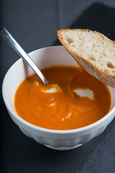 Oven Roasted Tomato Soup - Vegan (skip the mozzarell, or use a non-dairy alternative for the creamy topping)