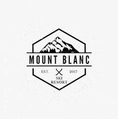 Ski mountain logo design by Johann Isaac for day 8 of . Ski Mountain, Mountain Logos, Berg Logos, Outdoor Logos, Wall Logo, Coffee Logo, Badge Logo, Great Logos, Badge Design