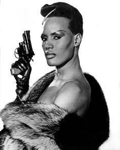 Grace Jones in 1985 in Bond film A View to a Kill