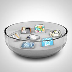 Prezi Template with 3D icons inside a glass bowl. The ingredients concept can be used for many different presentations for example business, marketing or even cooking ;)