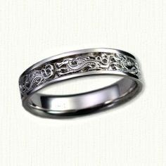 14KW Winged Dragon Wedding Ring