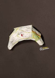 Hungry Go Where - Croissant | #ads #marketing #werbung #creative #print #advertising #campaign < repinned by www.BlickeDeeler.de | Follow us on www.facebook.com/BlickeDeeler