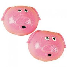 These squishy vinyl pigs are fun to squeeze and catch and they splat when you drop them! Naturally they are great fun at a farm theme birthday party or event -- as a favor or in a goody bag. Minecraft Party Supplies, Splat Balls, Open A Party, Pig Games, Pig Party, Farm Party, Discount Party Supplies, Pig Farming, Stress Relief Toys