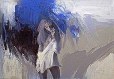 "Stojan Milanov - ""Moon Daughter"" - 70x100cm oil 2009"