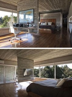 Design Detail – A Hanging Concrete Room Divider
