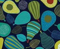 Design, pattern, colour Textile and surface pattern design Surface Pattern Design, Pattern Art, Print Patterns, Fabric Design, Print Design, Surface Art, Fruit Pattern, Art Courses, Fruit Art