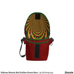 Hakuna Matata Red Golden Green Rasta Bag #Hakuna #Matata #Amazing #beautiful #stuff #products #sold on #Zazzle #Achempong #online #store for #the #ultimate #shopping #experience.