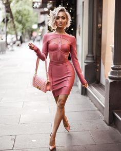 Micah Gianneli - Barbie pink kinda Monday  Dress from @houseofcb