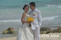 #beach #ceremony #simple #yellow #bridal #bouquet #decor @weddingcancun