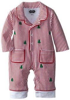 Love, love, love! So classy.   Mud Pie Baby-Boys Newborn Night Before Christmas Pajama, Red, 6-9 Months