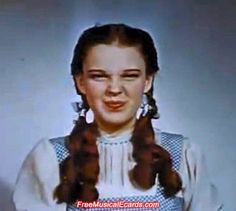 Judy Garland as Dorothy backstage in The Wizard of Oz - so cute <3