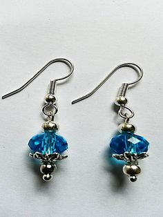 Turquoise Swarovski Crystal Drop Earrings - £15.00