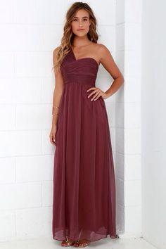 Bridesmaid dress- dark mauve