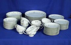 Empress China Japan Pattern Dawn 1553 White 82 Piece Set bfe2020 #EmpressChina