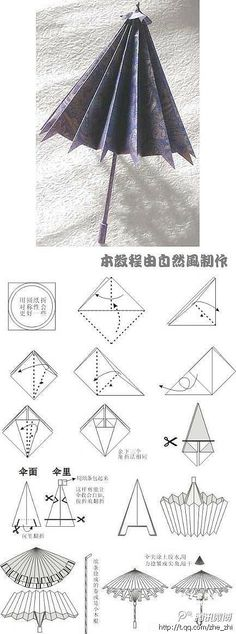 DIY pequeno guarda-chuva de papel artesanal