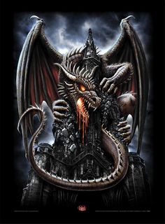 # Art # Fantasy # Pagan # Dragons # Ravens # adult content If your under 18 year's old stay off this page. Gothic Fantasy Art, Fantasy Dragon, Magical Creatures, Fantasy Creatures, Fantasy Posters, Tattoo Zeichnungen, Geniale Tattoos, Dragon Artwork, Dragon Tattoo Designs