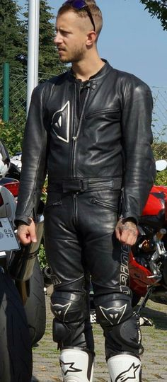 Sexy Guys, Sexy Men, Hot Guys, Motorcycle Men, Motorcycle Outfit, Leather Men, Leather Pants, Bike Leathers, Riders On The Storm