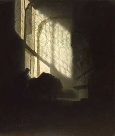 """A man in a room"" (1627) - Rembrandt"