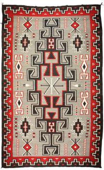 American Indian Art:Weavings, A NAVAJO REGIONAL RUG. Ganado. c. 1955...