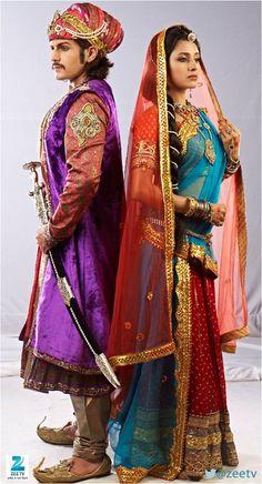 Paridhi sharma and Rajat tokas from Jodha Akbar.