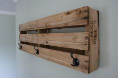 Pallet Wall Mount Coat Rack. $55.00, via Etsy.