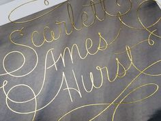 Scarlett Script by brian hurst