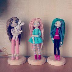 """""""Приехали подставки для моих девочек! #счастьерадость #куклы #вязанаякукла…"""