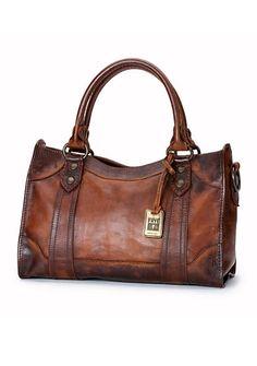 Dark Brown:Frye Melissa Washed Leather Satchel I need this in my life. Leather Satchel Handbags, Satchel Purse, Tote Handbags, Purses And Handbags, Cheap Handbags, Brown Handbags, Brown Satchel, Popular Handbags, Prada Handbags