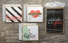 Use Project Life Collections to make quick cards and gift bags ~ Cindy Schuster
