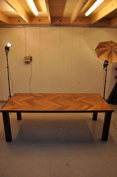 Dinnig table with african merbau wood