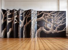 liko   carved wood panels by zoé ouvrier for gallery fumi