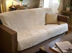 Made from 100% Merino Wool This Aran Pattern Merino Patchwork Throw is made from merino wool which gives a soft luxerious feel. The dimensions are 127cms x 153cms (50 x 60 inches) approx. Click the pic to learn more.