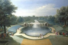 マルコ・リッチ (Marco Ricci)「 A View of the Cascade, Bushy Park Water Gardens, c.1715」