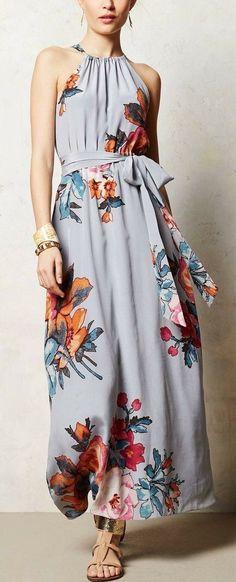 Moda anti-idade : Vestido Florido e Alegre para o Vero - Pretty Dresses, Beautiful Dresses, Stunning Girls, Trend Fashion, Womens Fashion, Fashion News, Dress Skirt, Dress Up, Bodycon Dress
