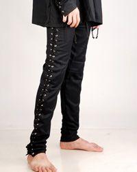 Skinny lace up pants Renaissance Pirate Costume, Renaissance Clothing, Pirate Garb, Gothic Clothing, Renaissance Fair, Vintage Clothing, Medieval Pants, Medieval Swords, Medieval Gothic