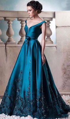 604be6c14bc Hunter Green Long Evening Dresses Vintage V Neck  prom  promdress  dress   eveningdress
