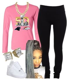 """""""The Trill Dollz Performance Super Bowl Special-Me"""" by newtrillvibes ❤ liked on Polyvore featuring Helmut Lang, NIKE, women's clothing, women, female, woman, misses and juniors"""