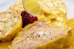 Recept: Pečené mäso s tekvicovou omáčkou na smotane | Nebíčko v papuľke