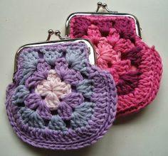 Patrones Crochet: Como hacer un Monedero con Granny Crochet