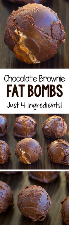 Secretly Low Carb Chocolate Brownie Fat Bombs Recipe Chocolate Fat Bombs, Low Carb Chocolate, Healthy Chocolate, Chocolate Brownies, Chocolate Recipes, Chocolate Chips, Baking Chocolate, Dessert Chocolate, Chocolate Truffles