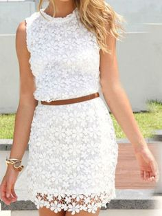 Cute Lace Sleeveless Tight Dress