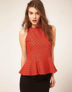 Lovely peplum top in floral lace     #peplumtops #peplumtrend #womenfashions